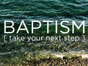 Water Baptism Information Meeting